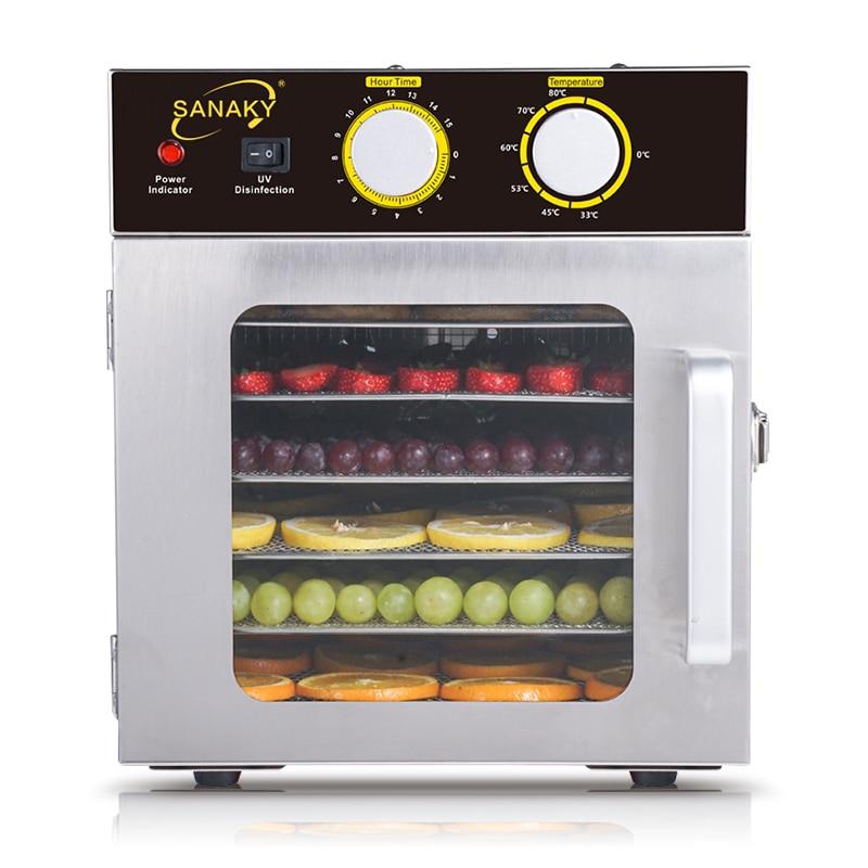 6-strato di acciaio inossidabile macchina di frutta Secca Alimentare Delle Famiglie asciugatrice frutta e verdura pet Alimentare a base di carne disidratazione asciugatrice