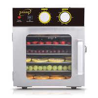 Séchoir de nourriture de ménage de machine de fruits secs d'acier inoxydable de 6 couches séchoir de déshydratation de nourriture de viande d'animal familier de fruits et légumes