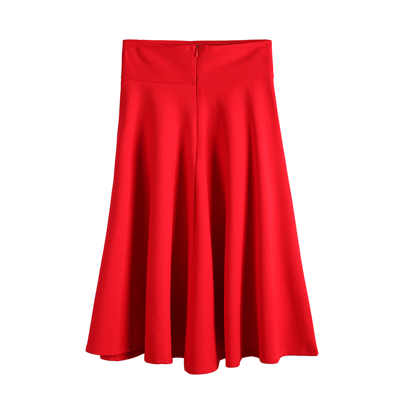 Negro Las wine rojo Red Una Alta Tamaño Mujeres Para Más Palabra Grande Falda Lana Salvaje Cintura Faldas Oqxnwa664Z