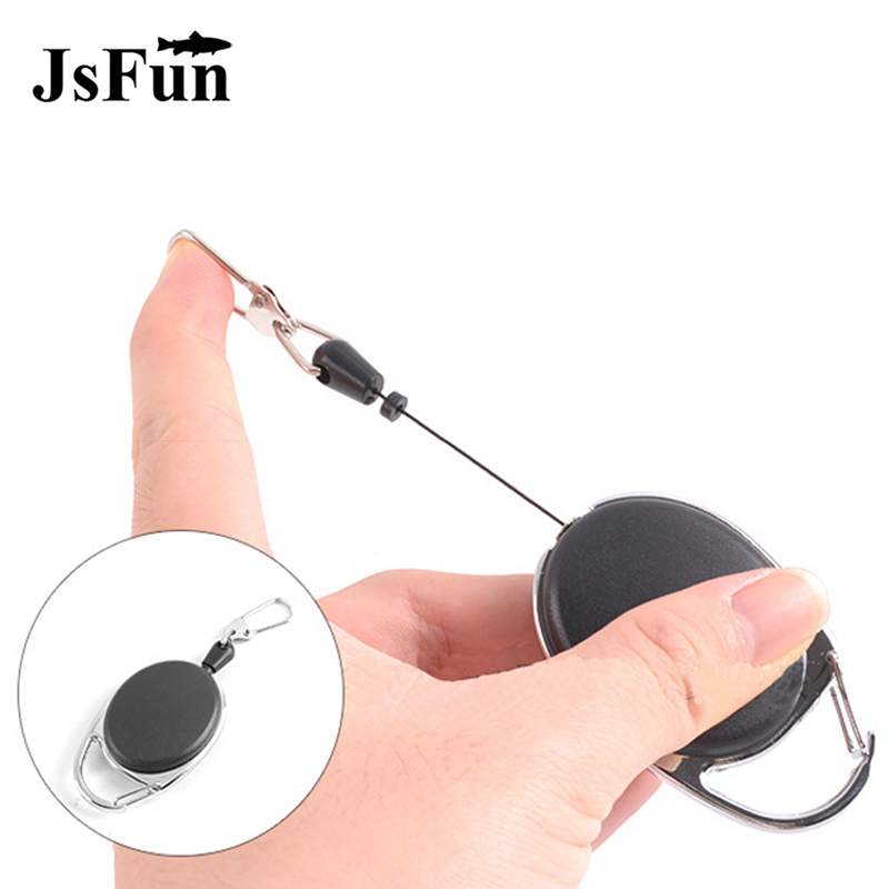 Fly Fishing Accessories Fishing Zinger Retractor Tackle Key Ring Holder Keychain Tether Elastic Reel Anglers Badge Holder PJ104