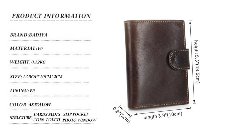 carteiras bifold embreagem sólida curto bolsas masculino