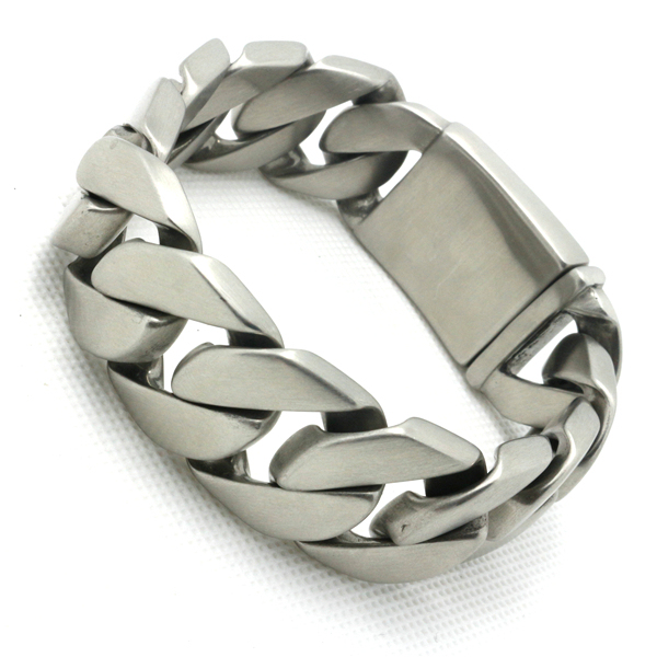 Mens Boys 316L Stainless Steel Cool Dull Polishing Newest Design Silver Biker Bracelet Factory Price