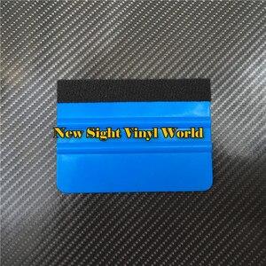 Image 4 - 100 шт./лот, мягкий войлочный скребок, Ракель, инструменты для нанесения автомобиля, инструмент для упаковки автомобиля