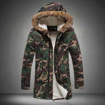 Men Winter Camouflage Padded Jackets Coats Veste Hmme Parkas Jaqueta Maculina Men's Casual Fashion Slim Fit Wadded Jackets A4587
