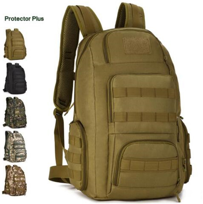 ФОТО Protector Plus 40L Wearable Nylon Versatile Military Travel Backpack for 14 inch Laptop Men Tactic Molle System Rucksack