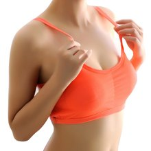 Women Padded Seamless Sports Bra Ladies Gym Yoga Vest Running Fitness Workout Crop Tops Tank