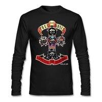Carlins Plat Nez Hommes t-shirt punk styles Rose T-shirts pour homme Guns n Roses Streetwear t-shirt