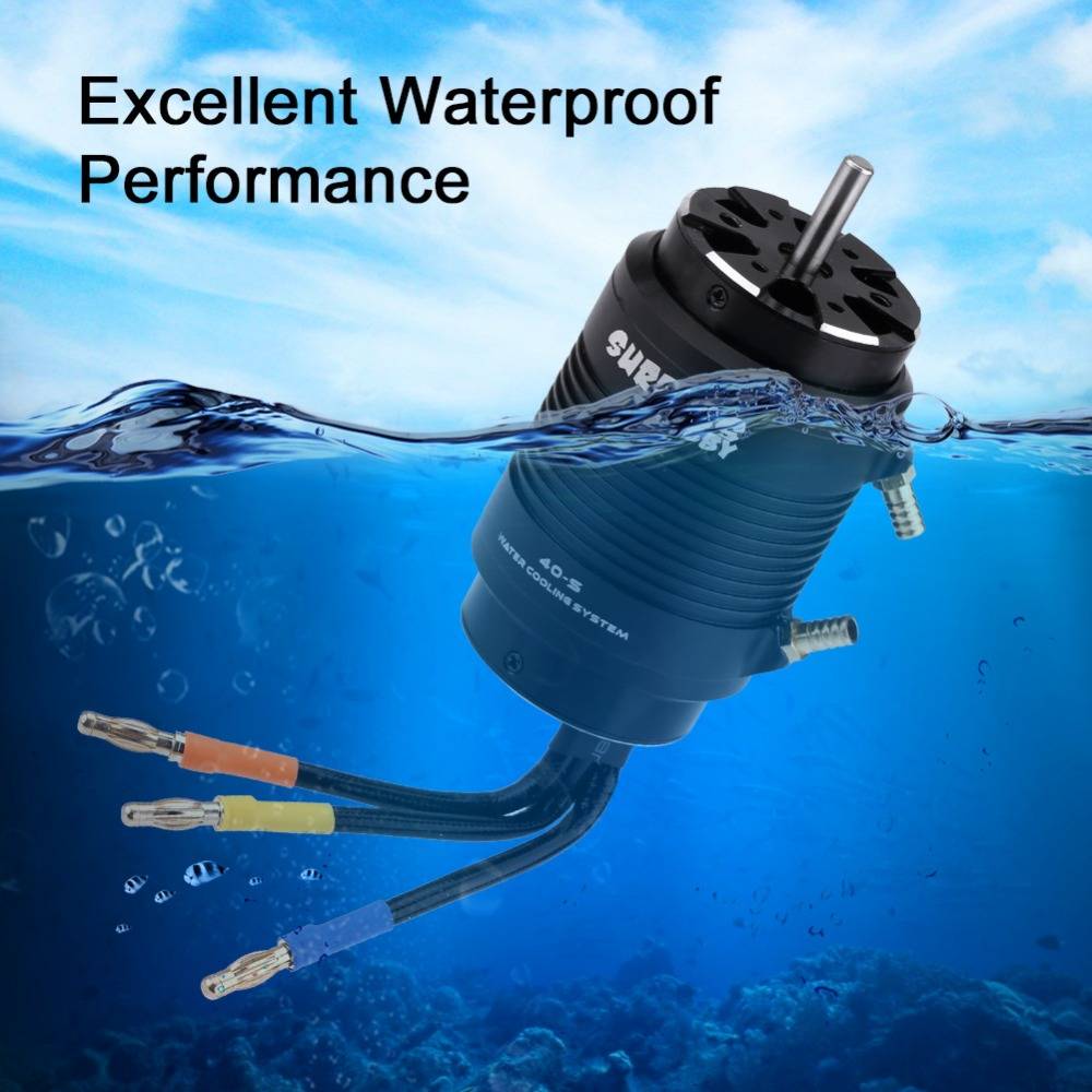 RC Boat Motor Waterproof 4 Poles 4092 1250KV/4074 2000KV Motor 40-L/40-S Water Cooling Jacket 160A/130A ESC for RC Boat 1pc cnc aluminum motor water cooling jacket for b20 b28 b36 b40 id 20mm 28mm 36mm 40mm rc boat brushless motor