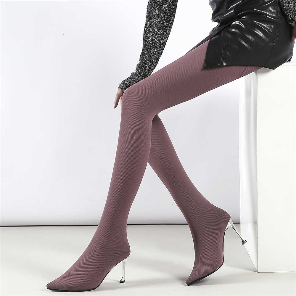 8d0b0a4eed3f ... BuonoScarpe Women Over The Knee Boots Elastic Pantyhose Fashion Sock Boots  High Heel Long Boots Sexy ...