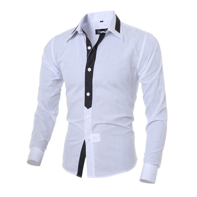 Herrenhemd 2018 Fashion Brand Herren Langarmhemd Herren Camisa - Herrenbekleidung - Foto 2