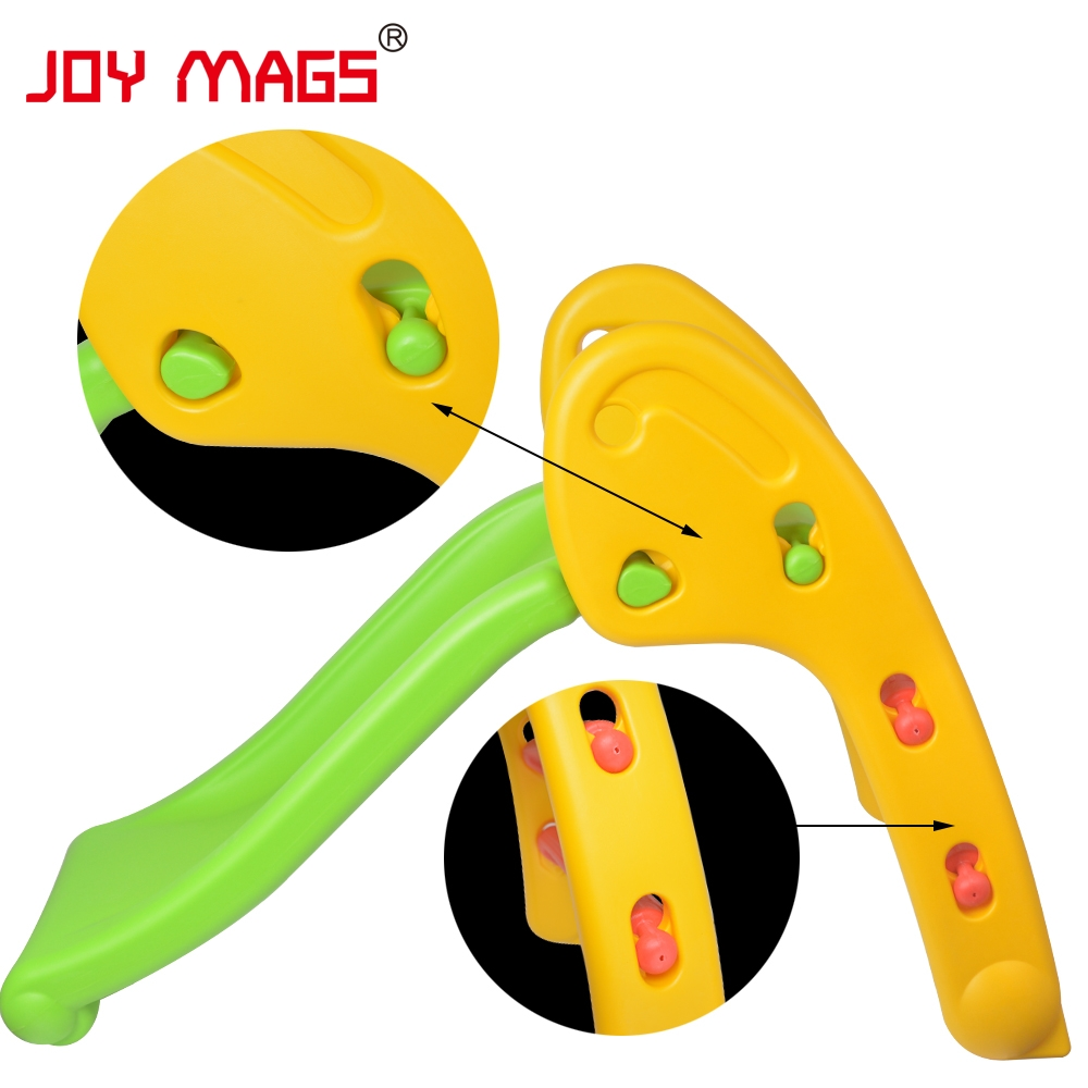 JOY MAGS Toy Folding Slide for Indoor or Outdoor Fun Kid Kindergarten Recreation Facility High Quality and Safe Birthday Gift 26pcs wooden fun big building block with animal brand top bright high quality for baby kid toy gift boy brinquedo menina tp048
