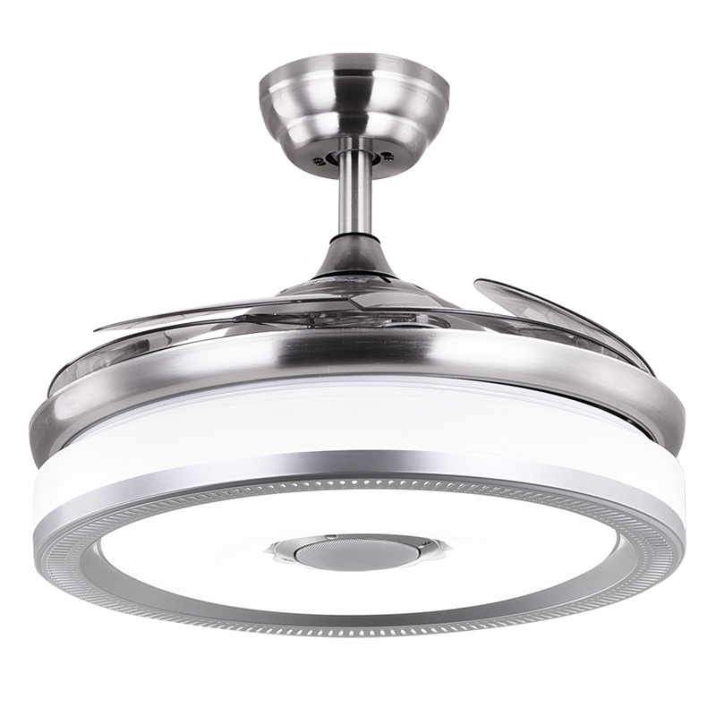 Smart New Led Ceiling Fan Light Invisible Ceiling Light Remote Control Ceiling Lamp 36 Inch 42 Inch Ceiling Fan Light 110v/220v Attractive Fashion