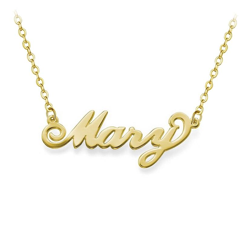 Personalisierte Namen Halskette Carrie Font faszinierenden Anhänger - Modeschmuck