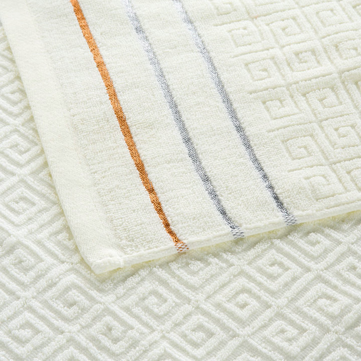 Plaid 100% Cotton Face Hand Bath Towel Set for Adult Bathroom 650g 3pcs/set Towel Sets Freeshipping