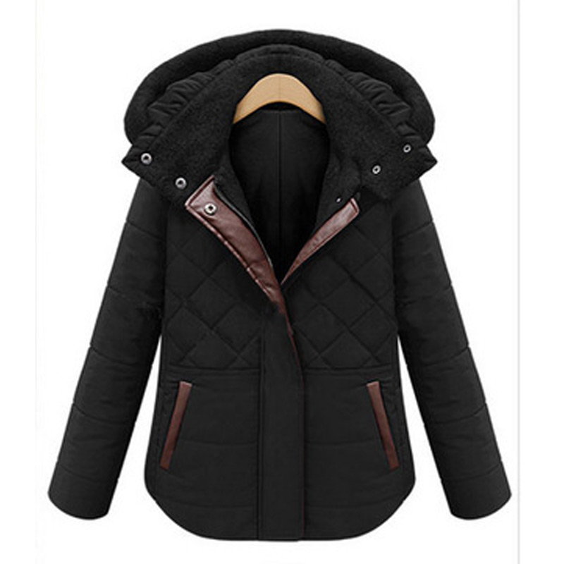 2017 Women Winter Hooded Parkas Jacket Thick Cotton Padded Coat Female Outerwear Short Ladies Slim Coats Feminina