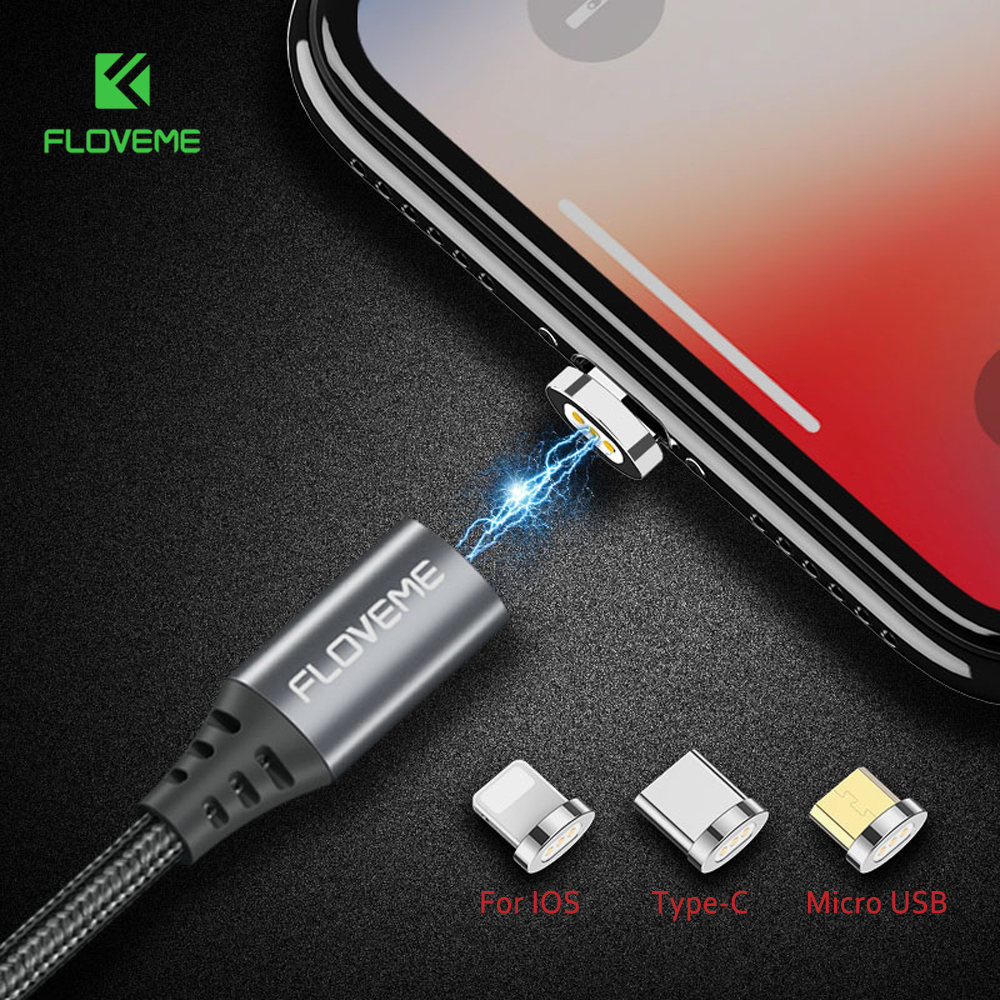 FLOVEME Magnetic USB Cable For iPhone 6 Xiaomi Redmi 4X Micro USB Type C For Lightning to USB Cable 2.4A 1M Magnet Charger Cabo-in Mobile Phone Cables from Cellphones & Telecommunications on Aliexpress.com | Alibaba Group