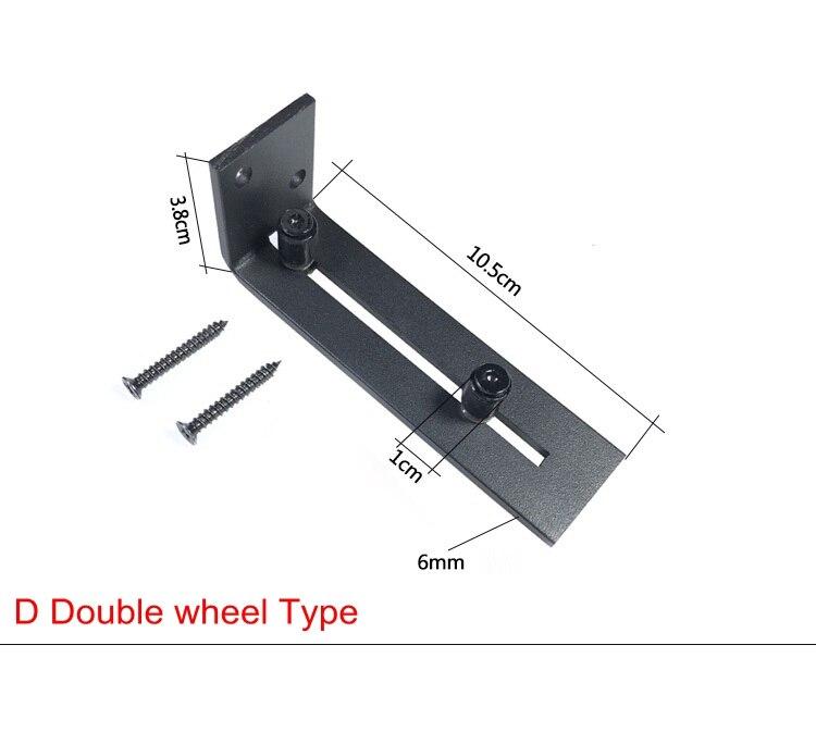 1pcs Sliding Barn Door Hardware Adjustable Stay Black Roller Floor Guide Bottom Wall Mount Anti Jump Door Bottom Guide