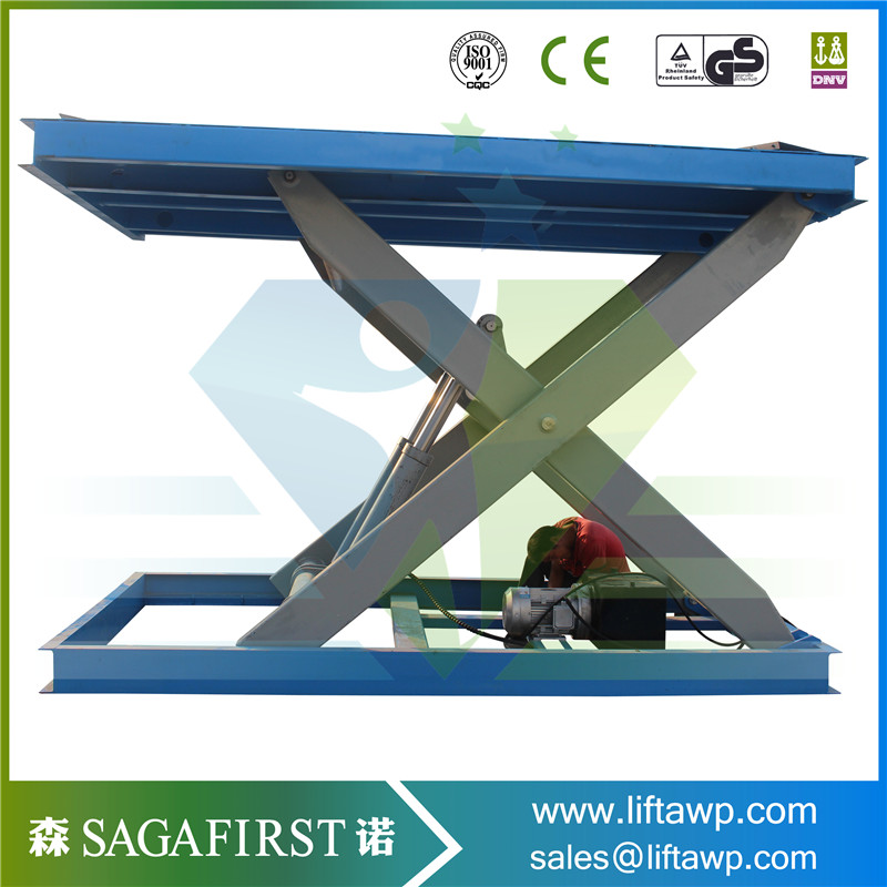 Fixed Type Hydraulic Scissor Cargo Lift Table Lift Powered Lift Table
