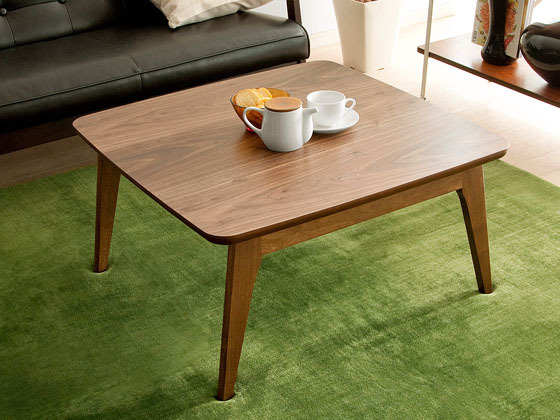 Modern Home Furniture Kotatsu Table Square 75cm Walnut Wood Furniture  Japanese Style Living Room Floor Low