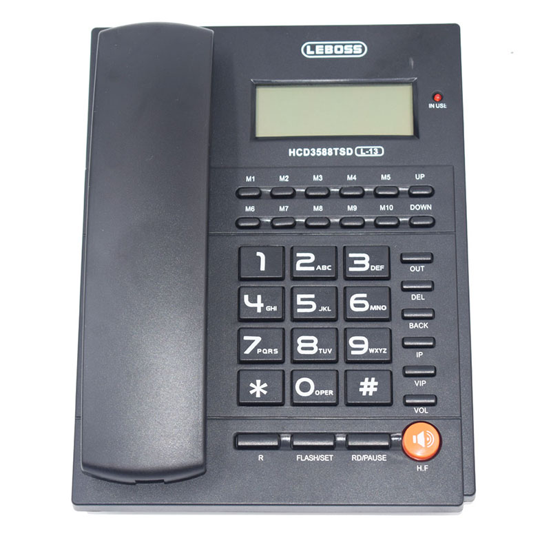 Fashion Call ID Telephone Handsfree Battery-free Dual Interface Fixed Landline Phone For Home Office Bussiness Telephone Fixe