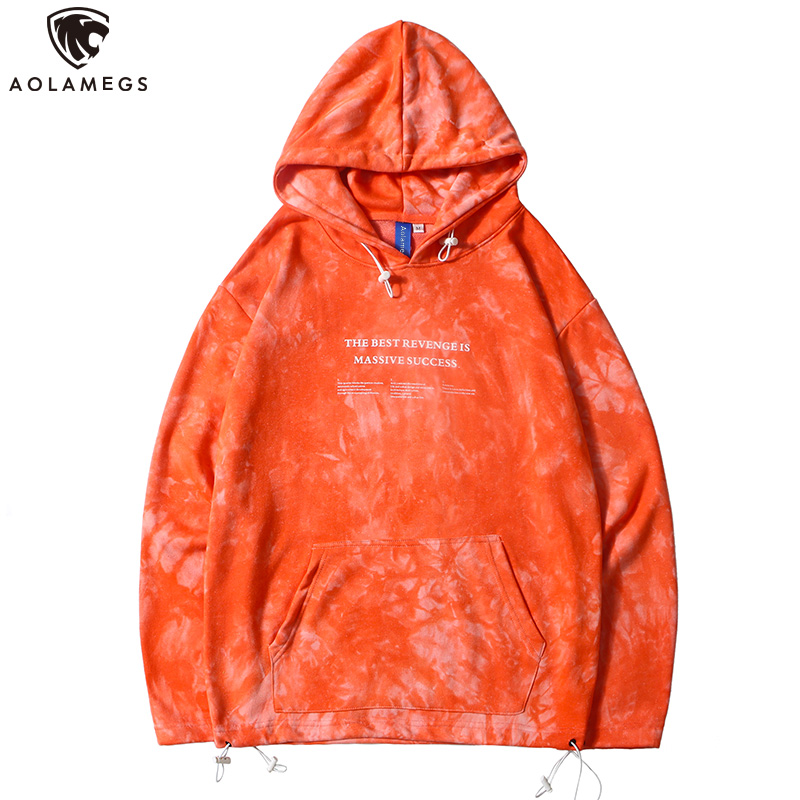 Aolamegs Hoodies Men Funny Big Pockets Men Thick Pullover Long Sleeve Solid Color Hooded Fleece Harajuku Streetwear Couple