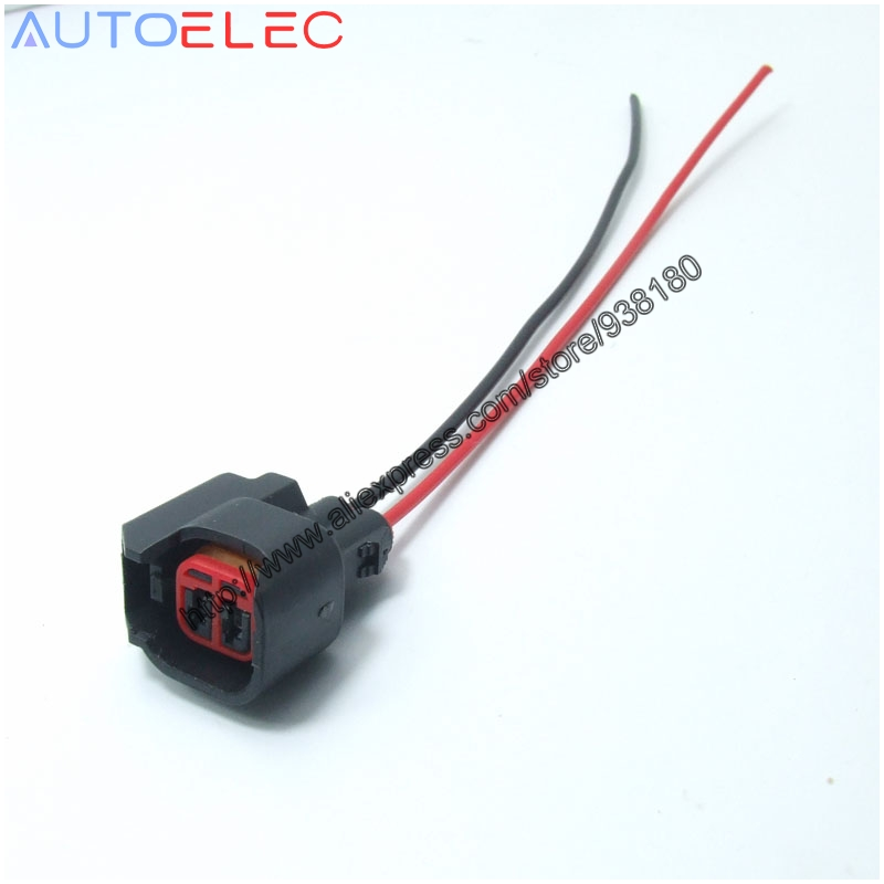1pcs good quality ev6 ev14 uscar electrical pigtail adapter clip connector wiring  harness for s824 pt2160 dodge ls2 ls3 gm
