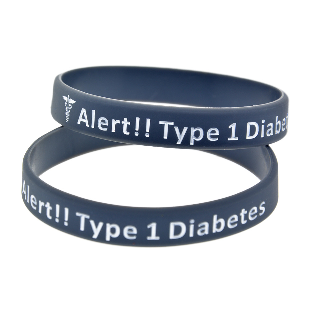 diabetes silicone bracelet sleek black type medical id american