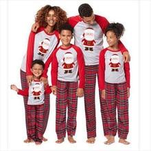 Семейный Рождественский пижамный комплект; одежда для всей семьи; пижамы для взрослых и детей; Детский комбинезон; одежда для сна с Санта-Клаусом; рождественские Семейные комплекты