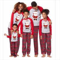 Family Christmas Pajamas Set Family look Clothes Adult Kids Pajamas Baby Romper Santa Sleepwear XMAS Family Matching Clothes