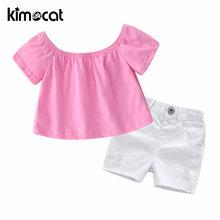 Kimocat одежда для маленьких девочек Детский костюм розовая