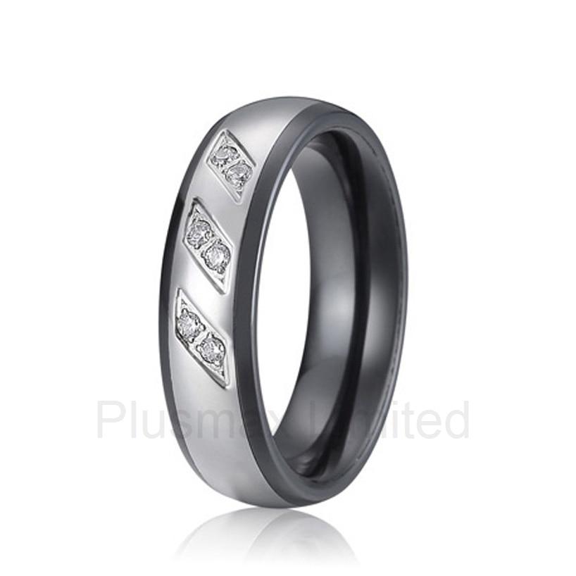 все цены на new arrival anel feminino anti allergic titanium jewelry Manufacturer his and hers direct black ceramic wedding band rings