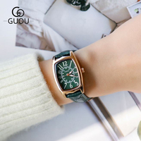 GUOU Ladies Watch Retro Rectangle Women's Watches Wrist Watches For Women Bracelet Genuine Clock relogio feminino saat