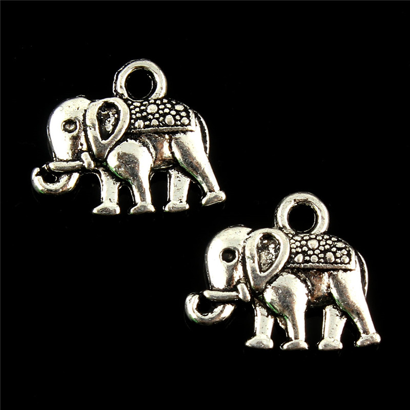 Lucky Elephant Beads Fits Charms Bracelet Summer Animal Beads Original Silver Beads For Jewelry Making 10pcs