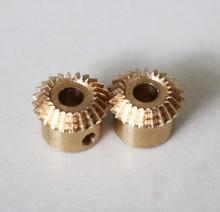 For sale 2015 0.5M-30T Precision mini copper bevel gear--inner hole:5mm 5pcs pack copper spur gear 0 5 module teeth 16 18 19 inner hole 3mm 3 17mm 4mm 5mm