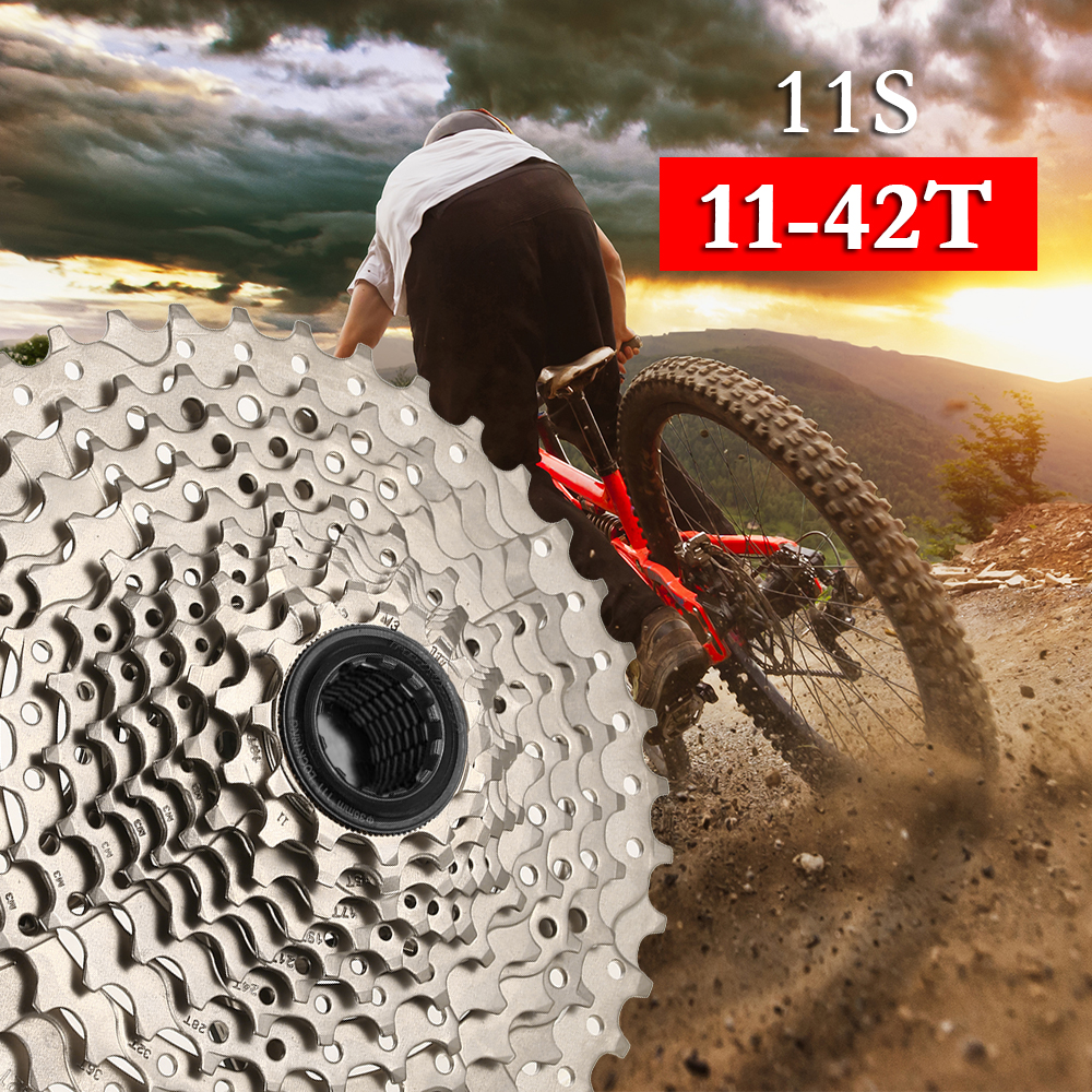 Cassette For Bicycle 11 Speed Stainless Steel MTB Bike Sprocket Bicycle Cycling Cassette Flywheel Rear Freewheel Bicycle PartsCassette For Bicycle 11 Speed Stainless Steel MTB Bike Sprocket Bicycle Cycling Cassette Flywheel Rear Freewheel Bicycle Parts