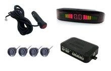 Envío libre Del Frente Del Coche Kit de Sensores de Aparcamiento, Sistema de Asistencia de Estacionamiento con 4 Sensores delanteros con interruptor