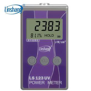 Linshang ls123 medidor de energia uv portátil medidor de energia solar teste intensidade de radiação ultravioleta com rejeição uv taxa de bloqueio uv
