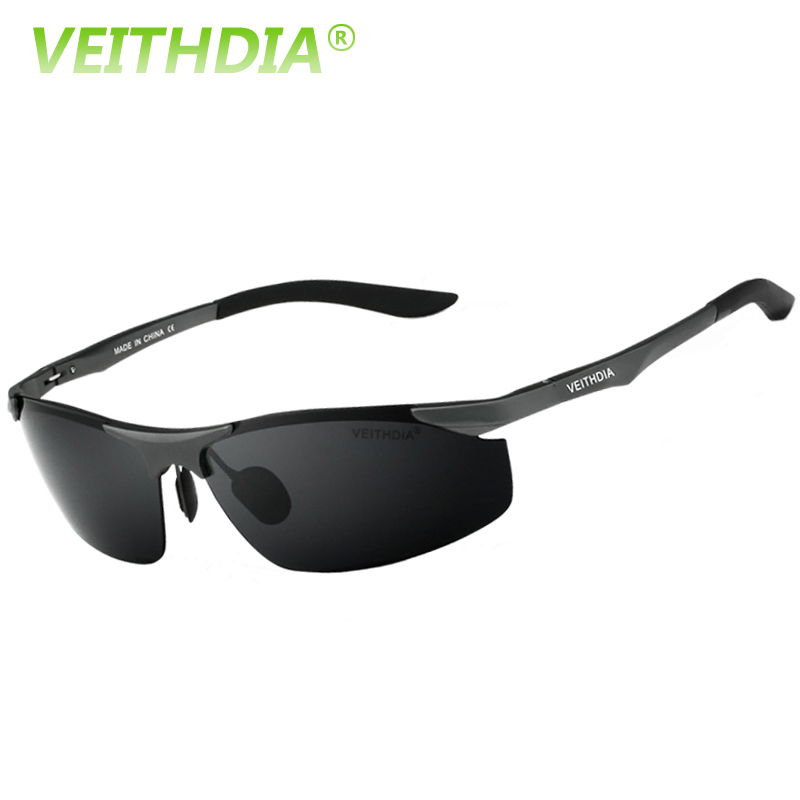 VEITHDIA Aluminum Magnesium Brand Designer Polarized s