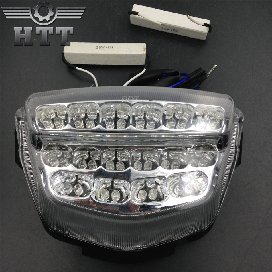 Aftermarket free shipping motorcycle parts LED Tail Brake Light for Honda 2008-2012 CBR 1000RR CBR1000RR RR Fireblade CLEAR aftermarket free shipping motorcycle parts led tail brake light turn signals for yamaha 2004 2009 fz6 fazer 600 clear