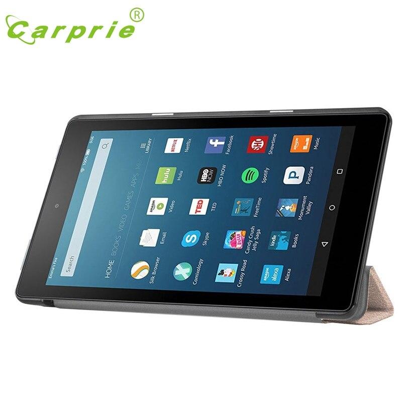 CARPRIE Flip Leather Case Cover Holder For Amazon Kindle Fire HD 8 Inch Tablet Feb4 MotherLander