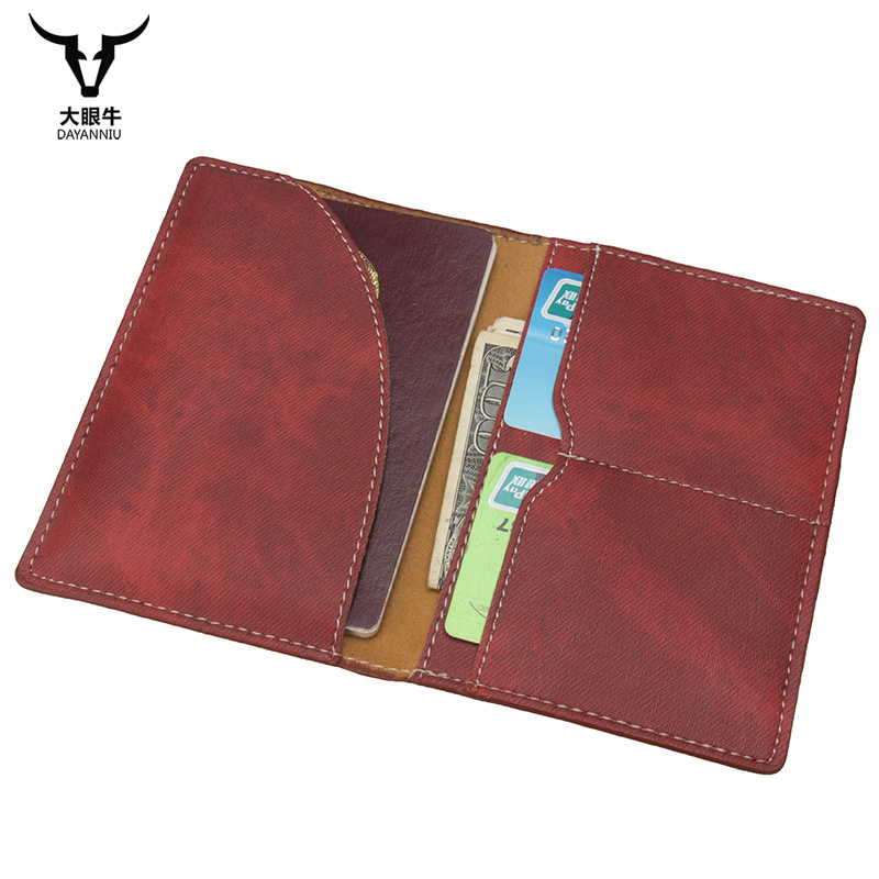 Card & Id Holders Russian Oil Soft And Solid Brown Double Eagle Travel Passport Holder Built In Rfid Blocking Protect Personal Information To Rank First Among Similar Products Back To Search Resultsluggage & Bags