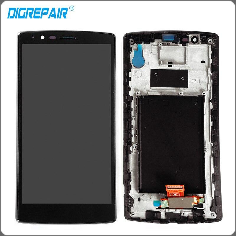 imágenes para Negro Para LG G4 H810 H811 H815 VS986 LS991 F500L LCD pantalla Digitalizador de Pantalla Táctil con el Marco Del Bisel Pleno Envío Gratis