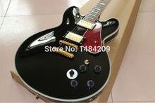 Neue ankunft griffbrett rot pearloid pickguard JAZZ hohlen E-gitarre hochglanz fertig