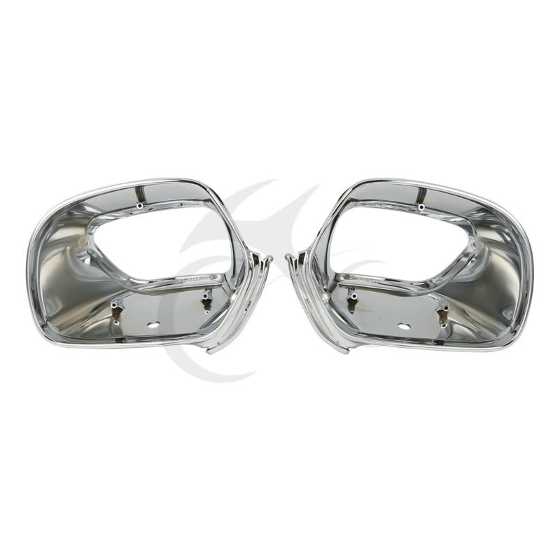 Motorcycle Rear View Side Mirrors Housing For Honda Goldwing GL1800 2001 2011 Chrome Red Black