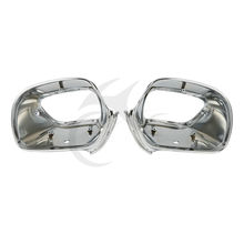 Motorcycle Rear View Side Mirrors Housing For Honda Goldwing GL1800 2001-2011 Chrome Red Black