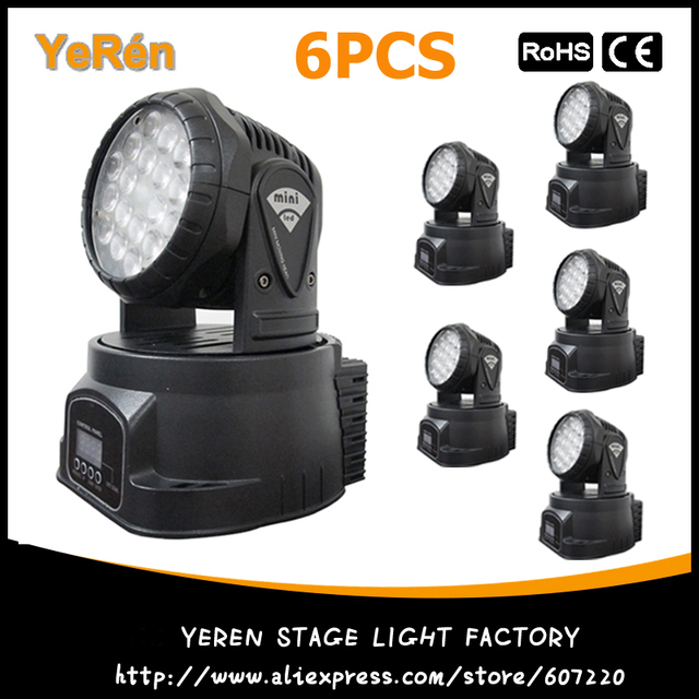 (6PCS) Mini Moving Head Led Free Shipping RGB 18Pcs 3W LED Moving Head Wash Light Moving Head Led