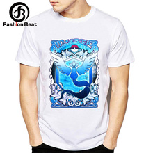 592e4f85 Harajuku Pokemon Articuno Moltres Zapdos Men T Shirts 2018 New Summer Round  Neck T-shirt