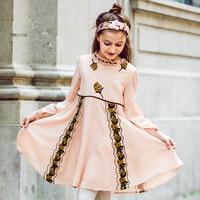 Kids Dresses For Girls Christmas 2017 Brand Princess Dress Autumn Embroidery Baby Girls Dress Children Clothing