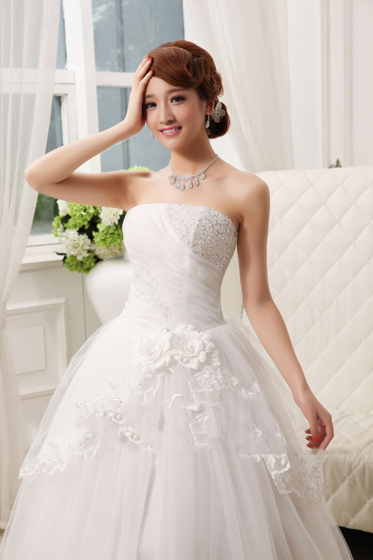 2015 Hot Fashion Girl Lace White and Red Princess Bridal Dress China ...