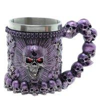 beer mug skull mug halloween carnival festival holiday stainless steel mug